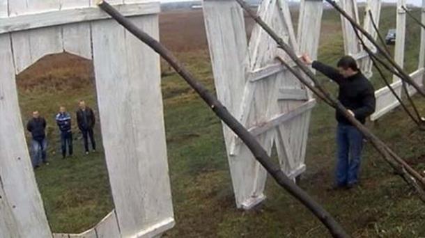В украинском поселке установили надпись «Голливуд»