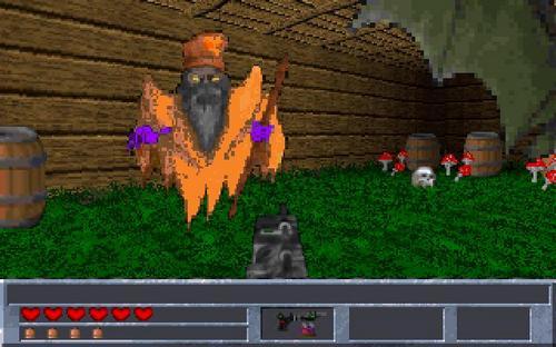 Скриншот «старинной» компьютерной игры «Подземелья Кремля»