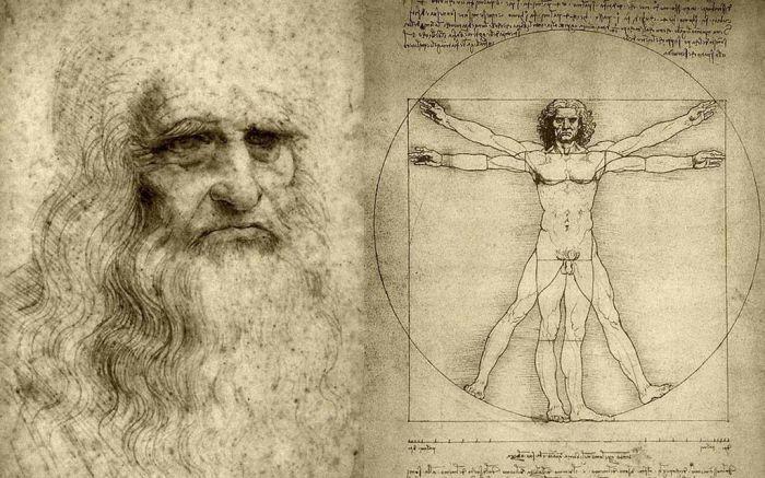 Леонардо да Винчи и его Витрувианский человек