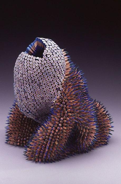 13 уникальных и ярких скульптур из обычных разноцветных карандашей от Дженнифер Маестре
