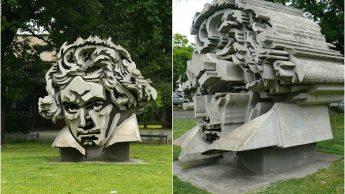 В 1986 году дюссельдорфский скульптор-абстракционист профессор Клаус Каммерихс, воздвиг необычную скульптуру на обширном газоне перед зданием Концертного зала Beethoven-halle и называд её «Голова Бетховена».