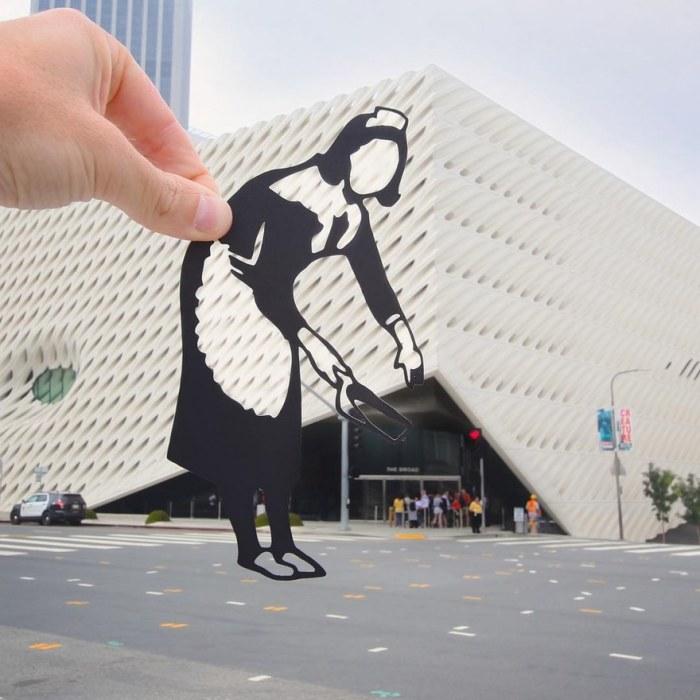 Особый взгляд на достопримечательности: фотоэксперименты с черной бумагой