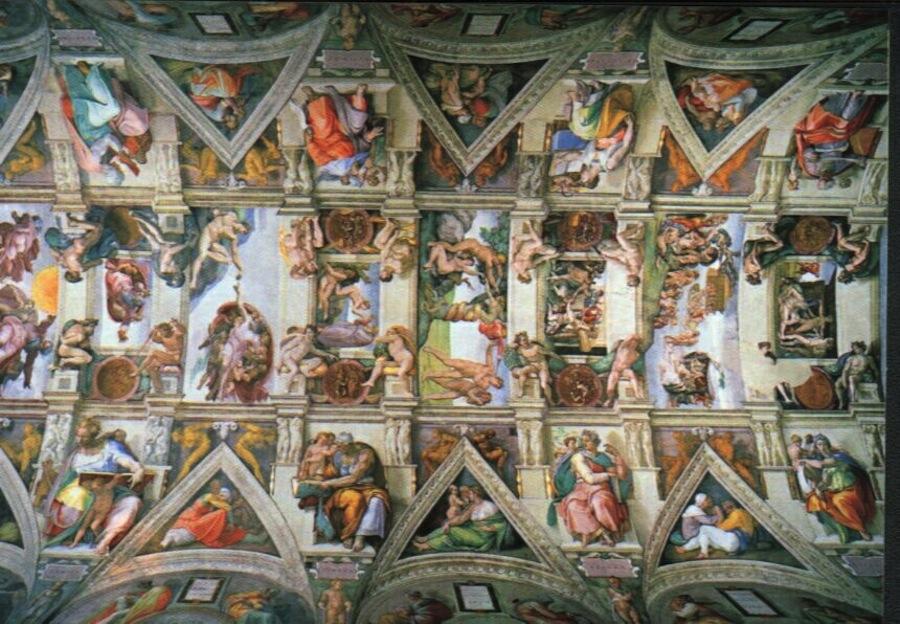 Фрески Сикстинской капеллы: на некоторых из них видны части человеческого мозга