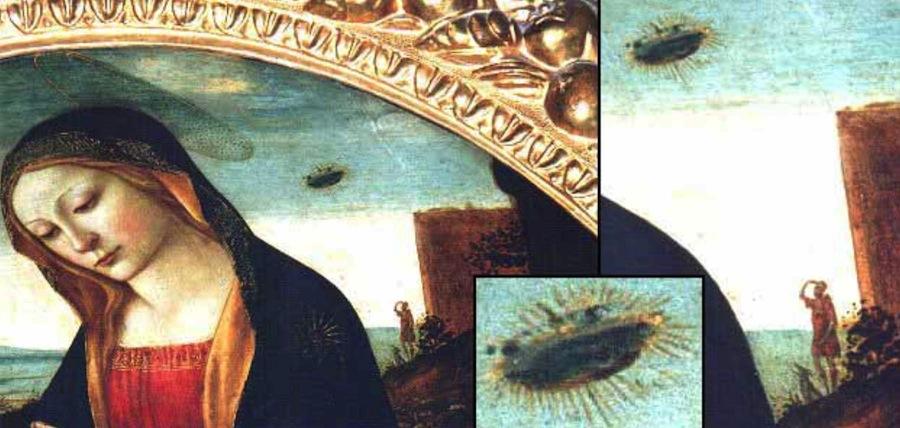 «Мадонна со святым Джованнино»: следы НЛО