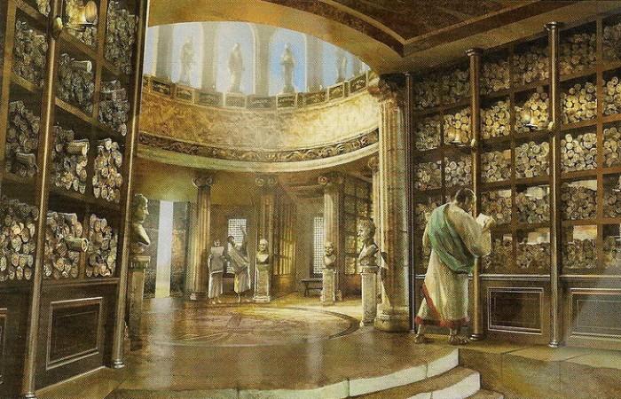 Александрийская библиотека – средоточие знаний Древнего мира. | Фото: xexe.club.