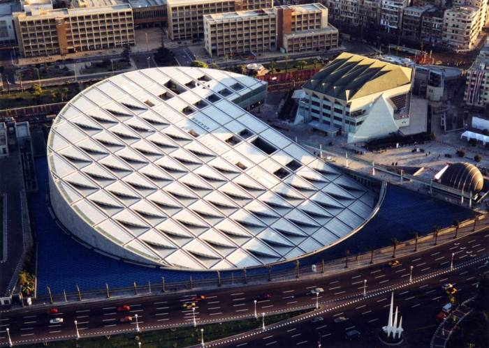 Новая Александрийская библиотека – гордость современного Египта. | Фото: travel.rambler.ru.
