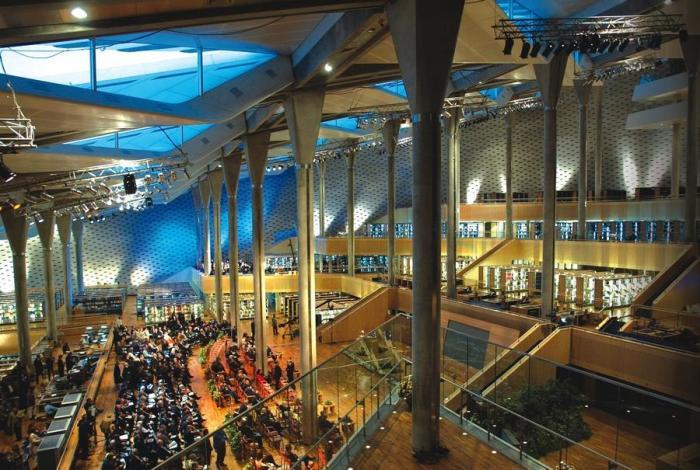 Главный читальный зал библиотеки Александрины занимает площадь 70 тысяч кв. метров. | Фото: tut1.ru.