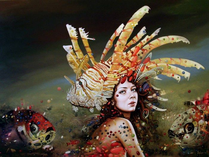 Символизм, сюрреализм и фэнтези - картины Драган Илича