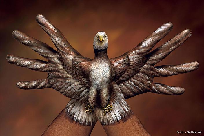 Потрясающий Hand Art — гиперреалистичные рисунки животных на руках