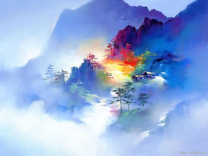 Хонг Леунг — мастер кисти. Завораживающие пейзажи Китая
