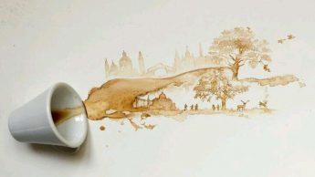 Кофейные рисунки. Автор: Giulia Bernardelli.