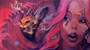 Красочный стрит-арт. Автор: Ernaste Nasimo.