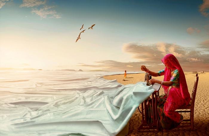 Я сошью море. Автор: Anil Saxsena.