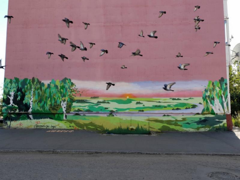 Живые птицы на картине