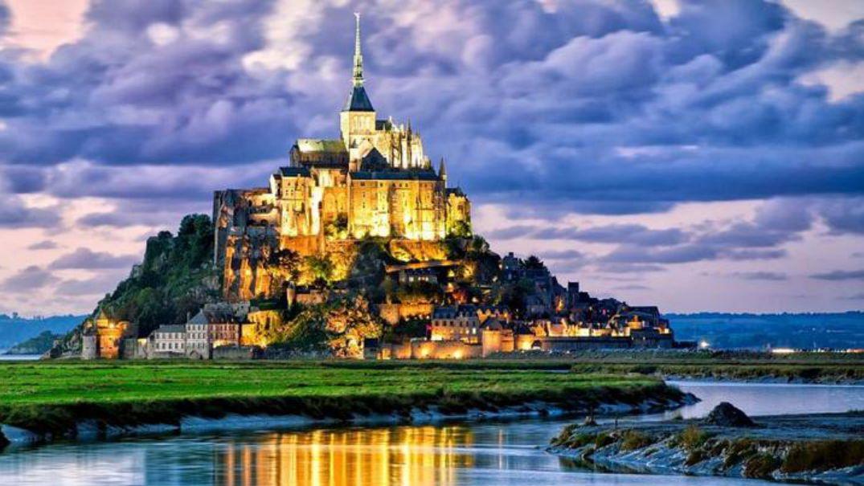 Мон-Сен-Мишель Нормандия, Франция