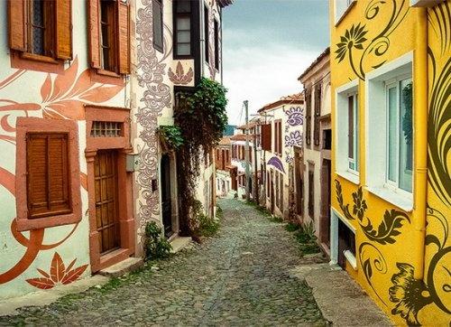 Улица на острове Кунда (Cunda Island), Турция