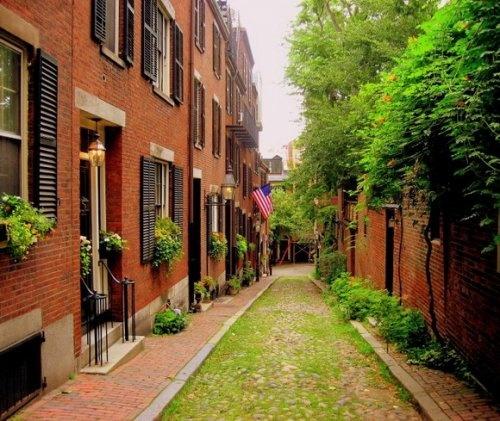 Акорн-Стрит (Acorn Street), Бостон, США