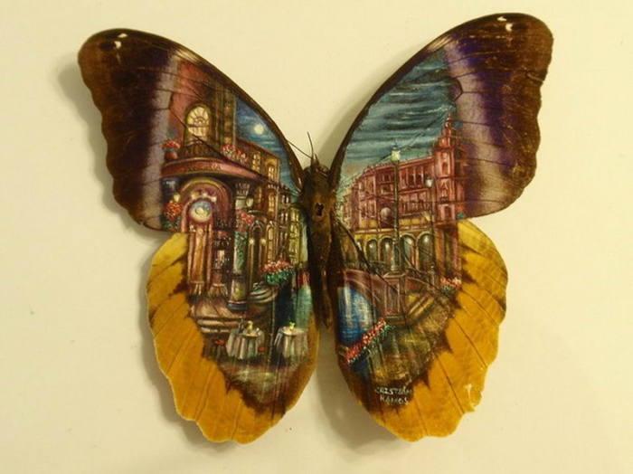 Великолепные города на крыльях бабочки. Автор: Hasan Kale.