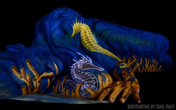 Боди-арт: необыкновенные картины художника Крейга Трейси