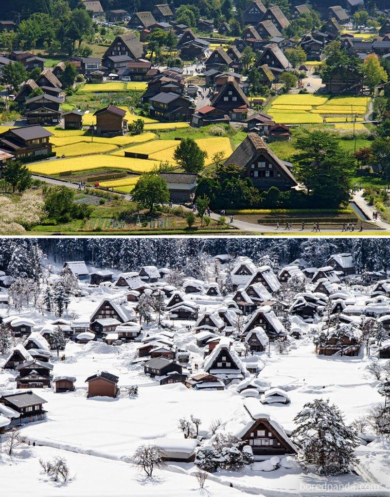 Историческая деревня Сиракава-го, Япония