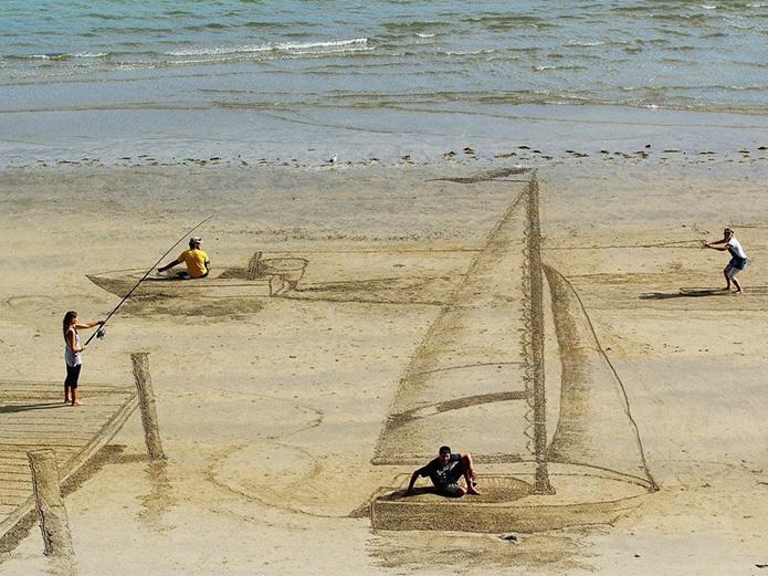 Песчаный 3D-рисунок