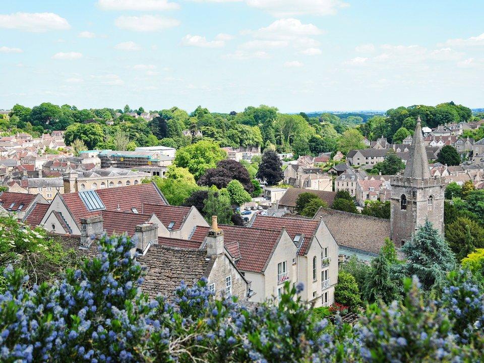 Городок в Англии в деревенском стиле