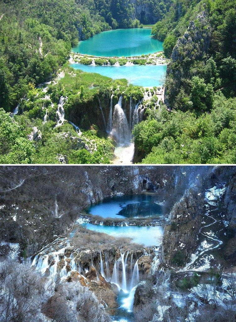 Плитвицкие озера в национальном парке, Хорватия