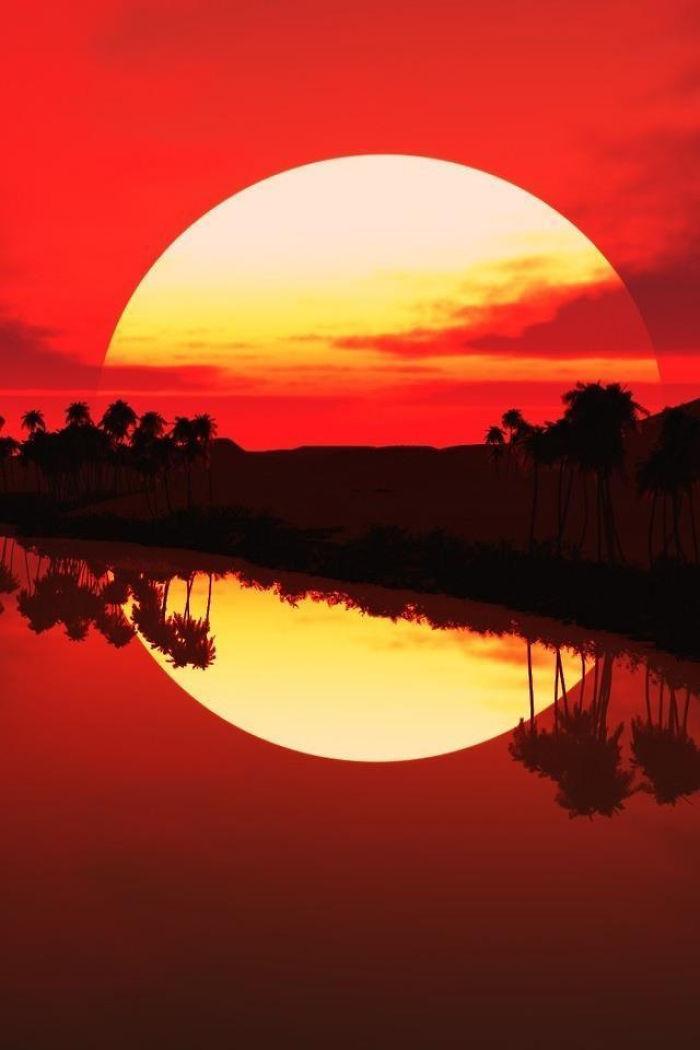 Огромное солнце