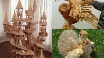 Скульптуры из дерева.