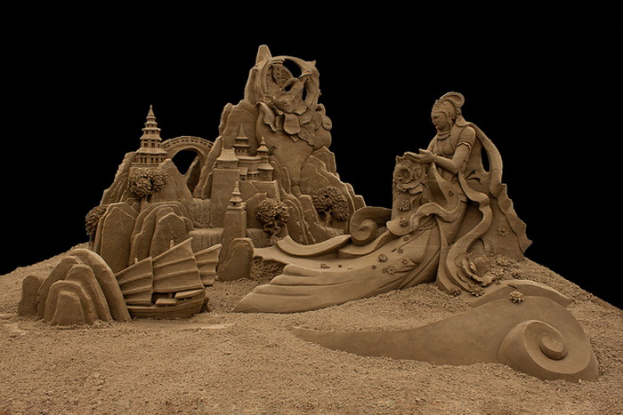 Удивительная песчаная скульптура Джоо Хенг Тана (Joo Heng Tan)