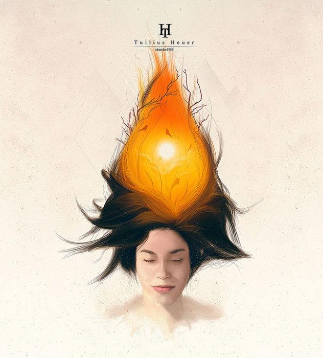 Пламя. Автор: Tullius Heuer.