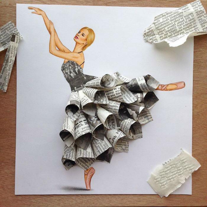 Мода на бумажные платья в самом разгаре