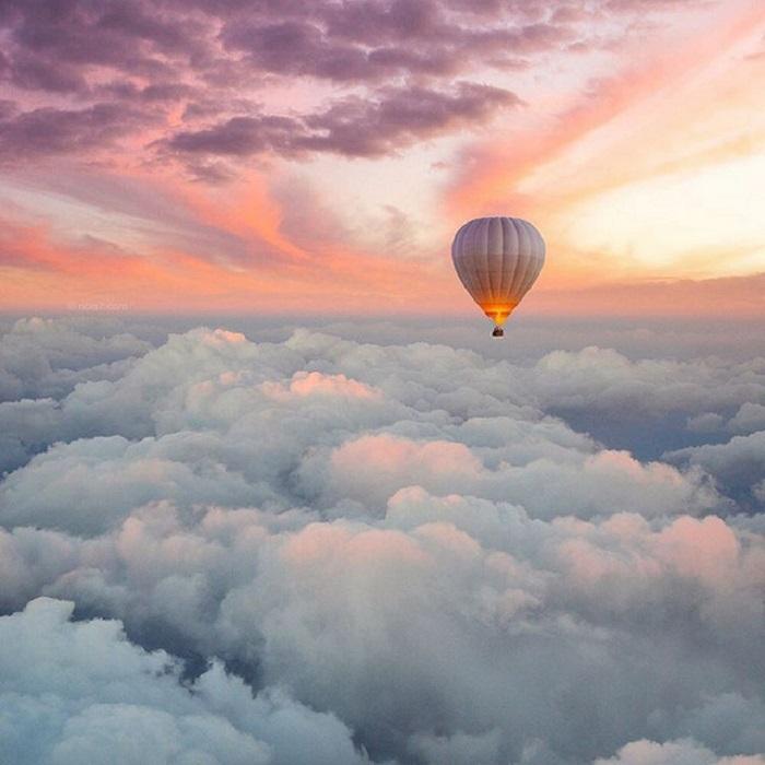 Путешествие на воздушном шаре.