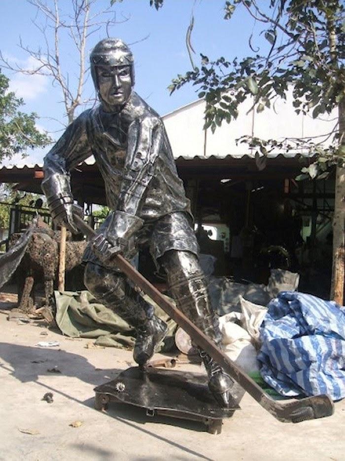 Скульптуры из автомобильного хлама. Tom Samui