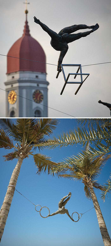 Балансирующие скульптуры Ежи Кендзёра, ОАЭ