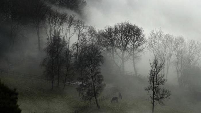 Административный центр — Гилфорд (графство Суррей) постепенно укрывает вершины пеленой
