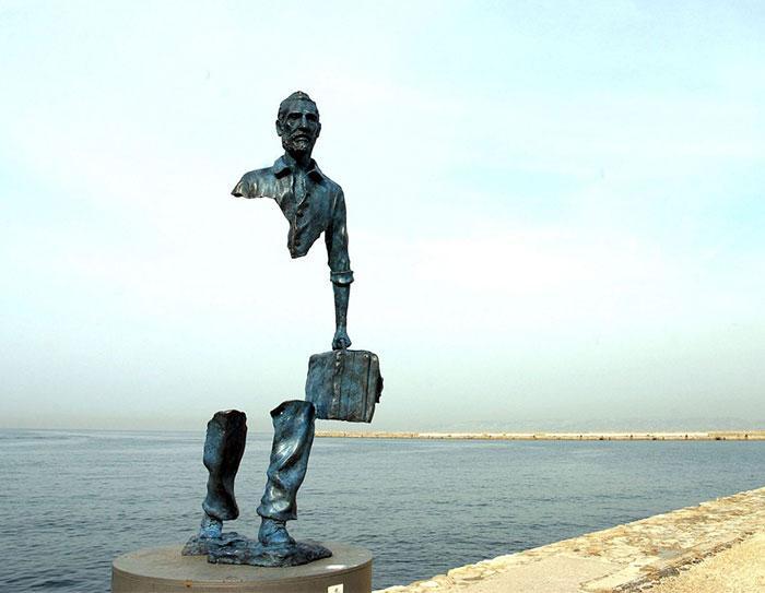 Скульптура «Ван Гог» из серии «Одинокий путешественник», Бруно Каталано, Франция