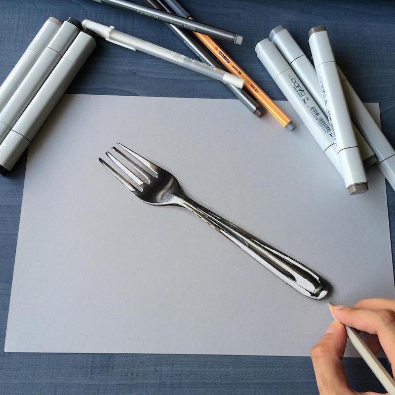 Гиперреалистичные рисунки индийского художника1439