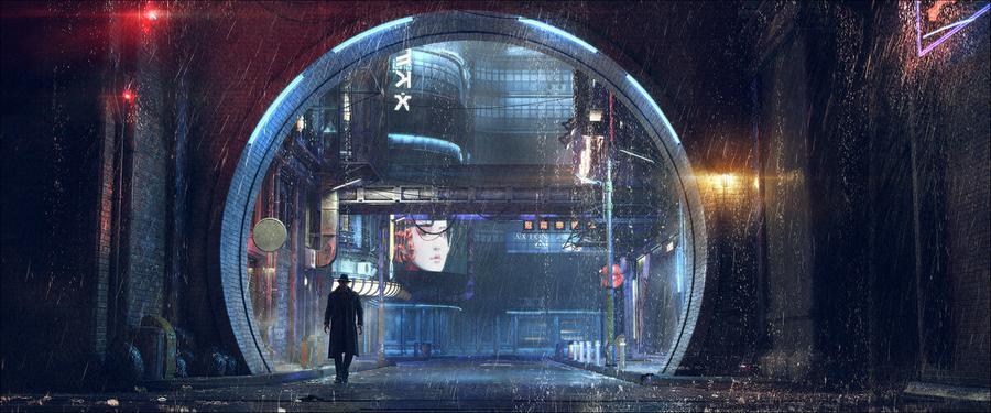Городской киберпанк новозеландского художника 01