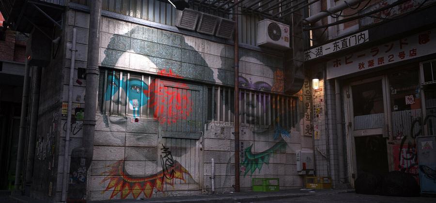 Городской киберпанк новозеландского художника 05