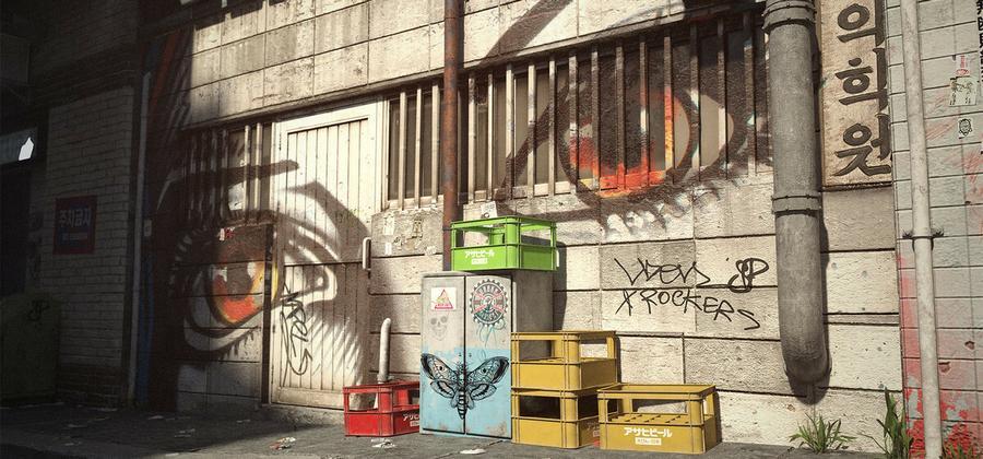 Городской киберпанк новозеландского художника 06