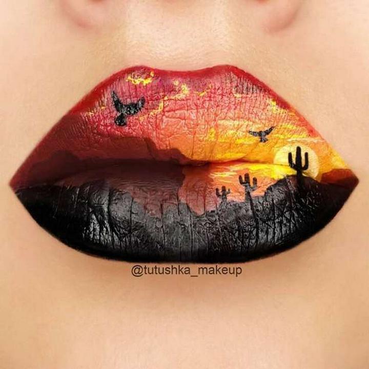 Визажист превращает губы в произведения искусства1254