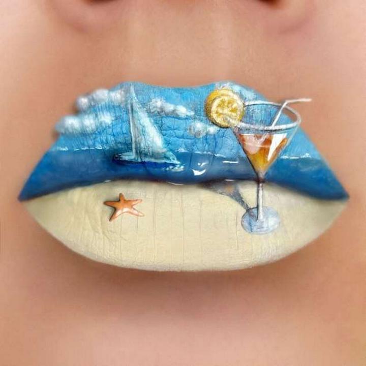 Визажист превращает губы в произведения искусства1696