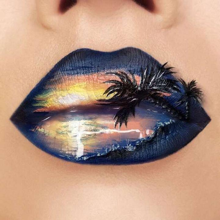 Визажист превращает губы в произведения искусства2230