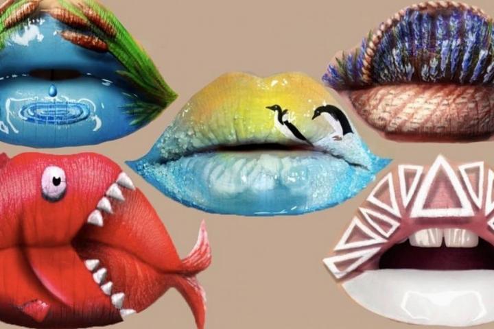 Визажист превращает губы в произведения искусства433
