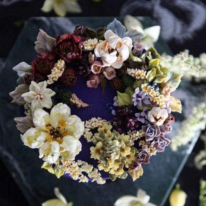Цветочные композиции из масляного крема 03