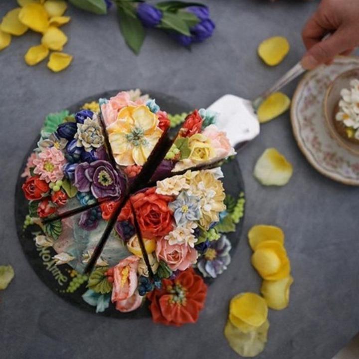 Цветочные композиции из масляного крема 04