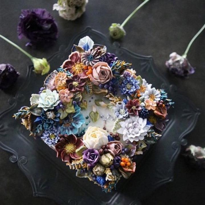 Цветочные композиции из масляного крема 05