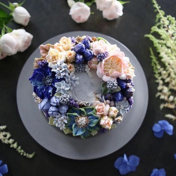 Цветочные композиции из масляного крема 06