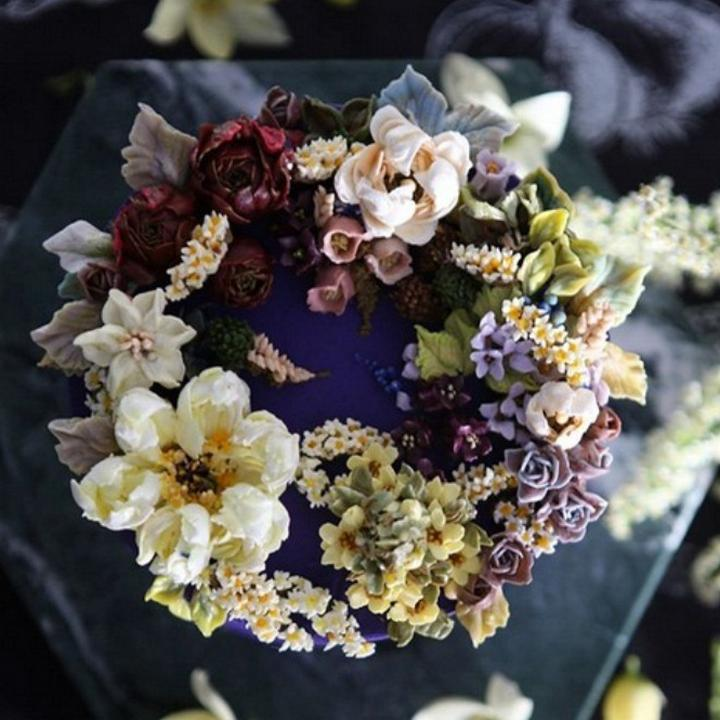 Цветочные композиции из масляного крема 07